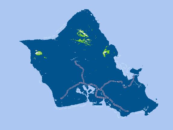 オアフ島のAT&T電波状況