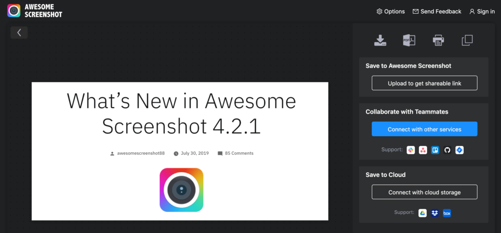 おすすめchrome拡張機能のawesome-screenshot