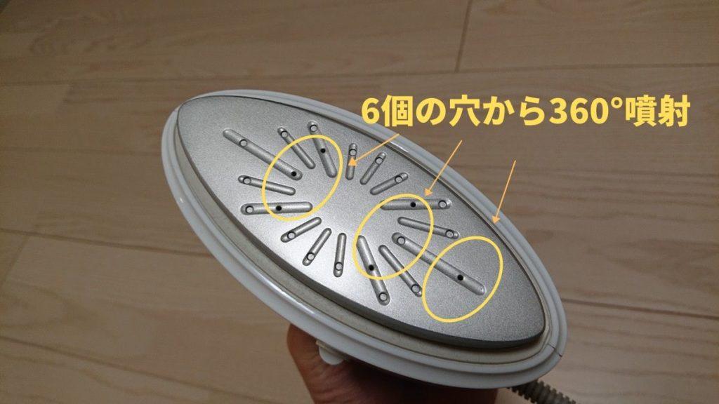 360°対応のNI-CFS750スチーマー