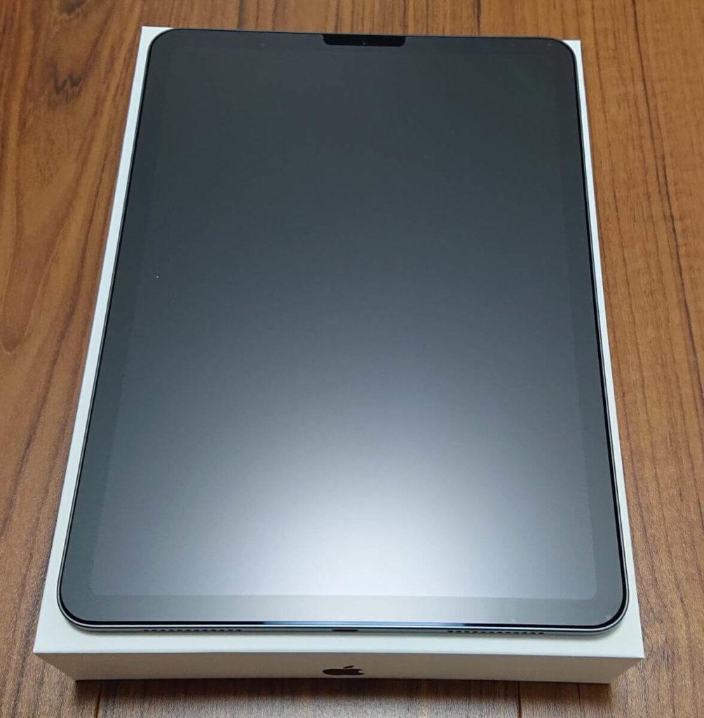 iPad Air4 保護フィルム使用後