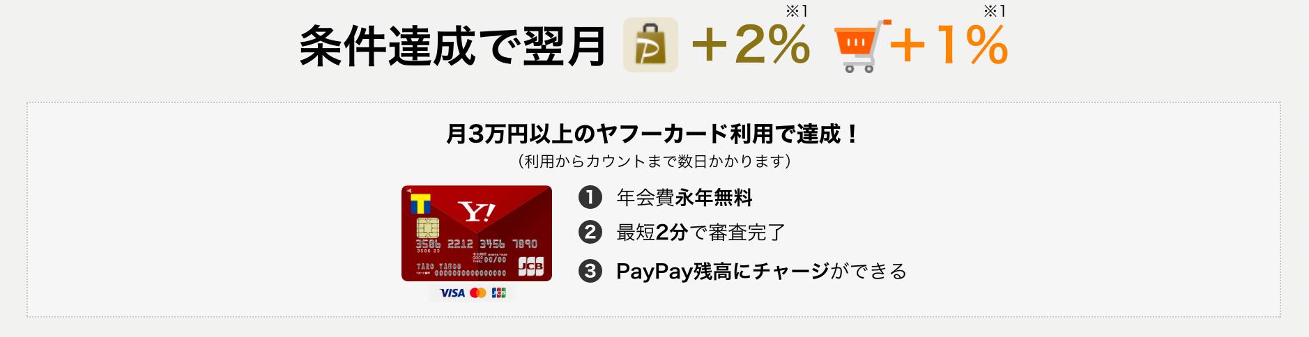 PayPay STEP Yahoo!カード利用